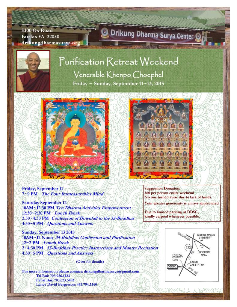 DDSC Purification Retreat with Ven Khenpo Choephel - Sep 11 - Sep 13, 2015-page-001 (2)