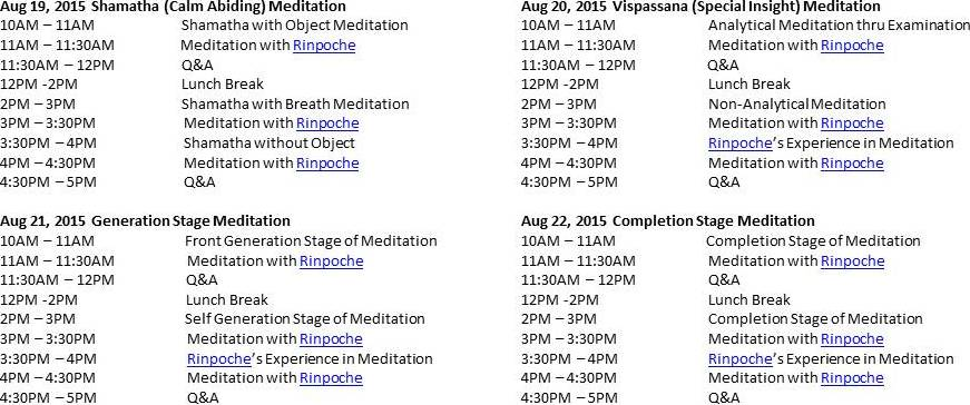 Special 4-day Mediation
