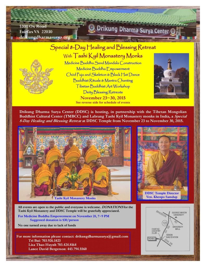 2015 DDSC Special 8-Day Healing and Blessing Retreat with Tashi Kyil Monastery Monks-page-001