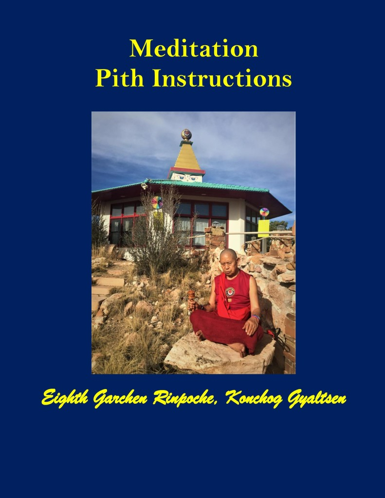 Meditation Pith Instructions by Garchen Rinpoche COVER PAGE-page-001